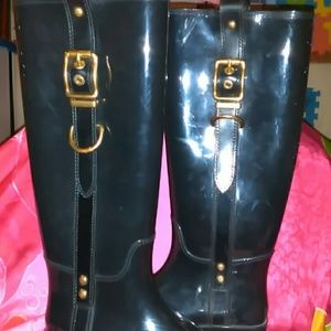 COACH RUBBER BUCKLE BOOTS